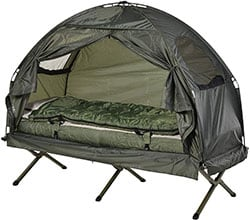 Outsunny Compact Portable Popup Tent Cot